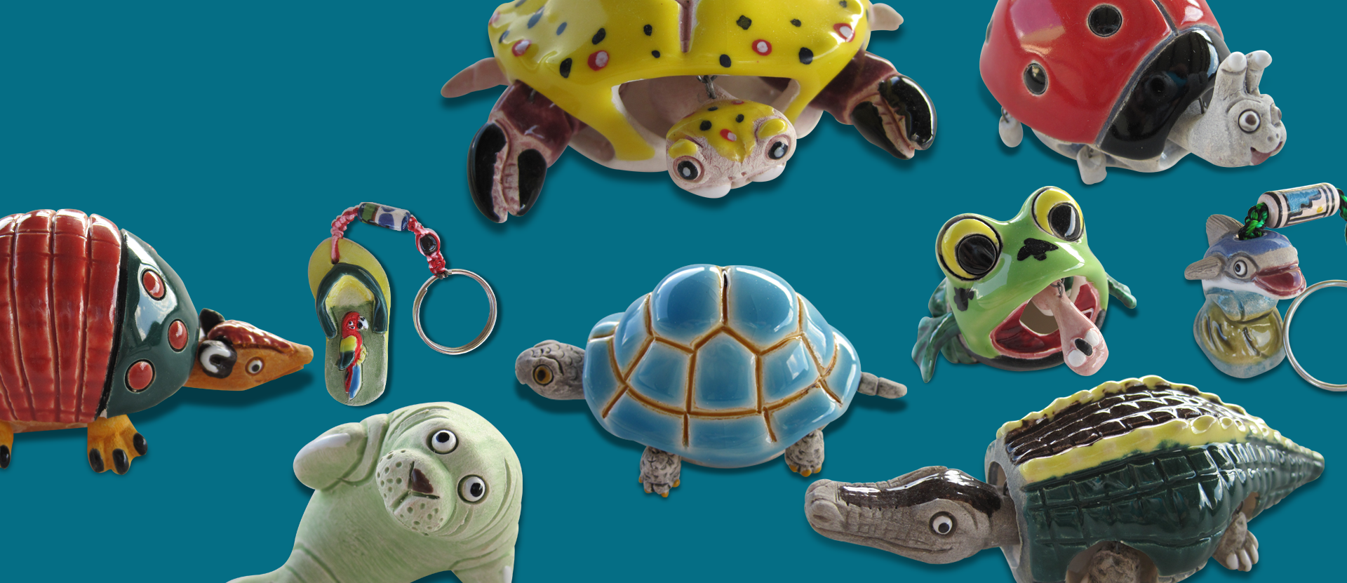 Sculpted Clay Art Figurines & Keychains